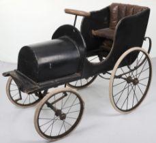 An Edwardian wooden and aluminium child's chain driven pedal car, English circa 1908