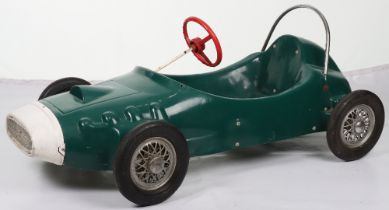 A Tri-ang moulded plastic child's pedal Racing car, English circa 1970