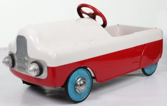 A Tri-ang pressed steel Monte Carlo child's pedal car, English 1950s