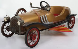 A scarce Pines Chitty-Chitty Bang-Bang moulded plastic child's pedal car, Italian 1970s,