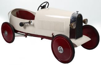 A very rare Eureka pressed steel Bugatti Duck tail type 35 child's pedal Racing car, French circa 19