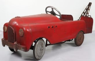 A scarce Tri-ang Commercial pressed steel child's pedal Tow Truck, English 1950s