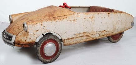 A scarce M & G (Morellett & Guerineae) Citroen DS pressed steel child's pedal car, French 1964