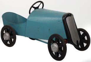 A Eureka pressed steel Bugatti child's pedal car, French 1940s