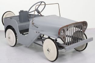 A Tri-ang pressed steel Willie's Jeep child's pedal car, English 1960s