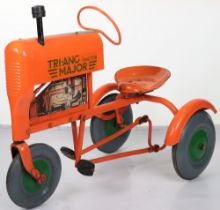 A Tri-ang pressed steel child's pedal Tractor Major, English 1960s