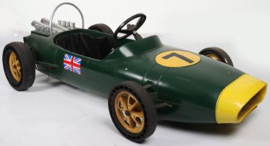 A Tri-ang moulded plastic Lotus child's battery operated Racing car, English circa 1970