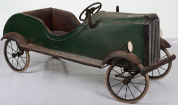 A Tri-ang pressed steel Vauxhall child's pedal car, English circa 1940