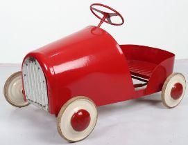 A Torek pressed steel child's pedal car, Swedish 1950s
