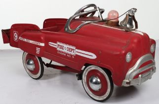 A Murry pressed steel child's pedal Fire Dept Engine, American circa 1980