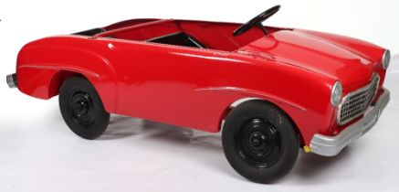 A good and rare two-seater pressed steel child's pedal car, European circa 1970