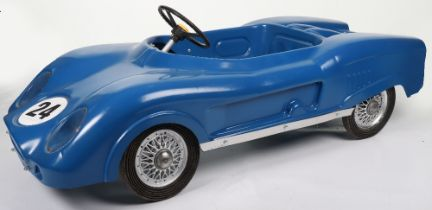 A scarce M & G (Morellett & Guerineae) hard moulded plastic Ford GT 40 child's pedal Racing car, Fre