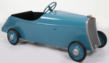 A Eureka pressed steel Bugatti Type 35 Junior child's pedal Racing car, French 1930s