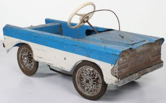 A Tri-ang pressed steel T45C Miami child's pedal car, English released 1965