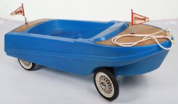 Tri-ang plastic child's pull-along/ pedal boat, English 1970