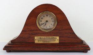 WW1 5th (Doncaster) Detachment Kings Own Yorkshire Light Infantry Presentation Clock