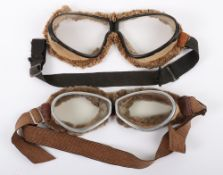 2x Pairs of Early Aviators Flying Goggles