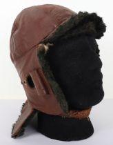 Early 20th Century Leather Flight Helmet in RFC Mk1 Style