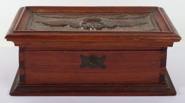 Great War Belgium Aviation Storage Box / Tea Caddy
