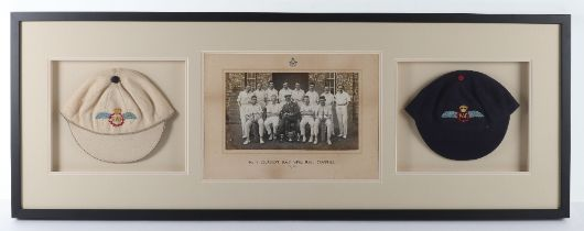 1920's Royal Air Force (RAF) College Cranwell Sports Cricket Caps