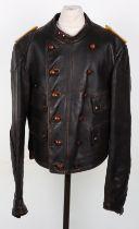 WW2 German Luftwaffe Style Leather Flying Jacket