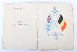 Royal Air Force Halton Belgium Tour 1932