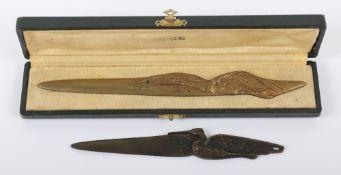 1920's Frecourt (Maurice) Bronze Letter Opener