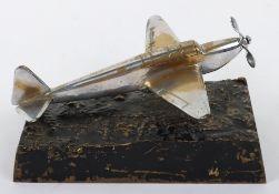 WW2 Period Desk Model of a WW2 Fighter Aircraft