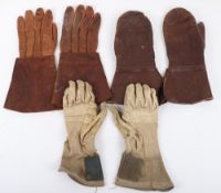 WW2 Style RAF Leather Flying Gloves