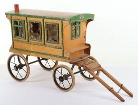 A Scarce Swallow Toys (London) Wooden Gypsy Caravan
