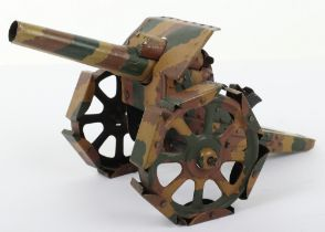 Pre-War Hausser/Lineol style (Germany) Heavy Howitzer Tin-plate Toy Gun