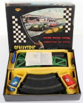 Vintage Scalextric set CM.33 Competition Car Series and a selectin of track, 1960s