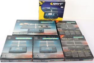 Six Boxed Scalextric Lap Counters and Pacers
