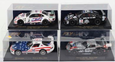 Four Boxed Fly Car Model Slot Cars