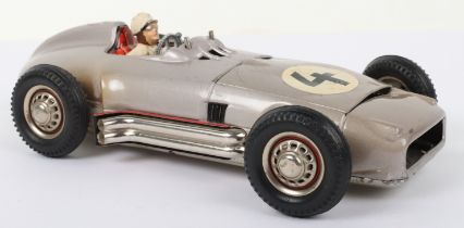 JNF (Western Germany) Tinplate Battery Operated Solo Mercedes Racing Car