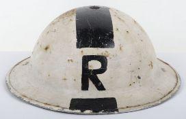 WW2 British Senior Rescue Party Officers Steel Helmet