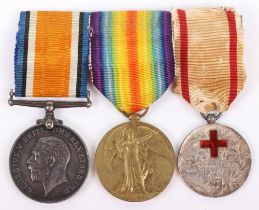 An Unusual Great War Balkans Nurses Medal Group of Three to Miss Edith Pierce Toms Who Served with t