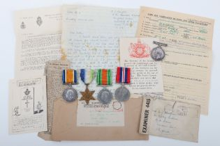 Great War & WW2 Naval Long Service Medal Group of Five HMS Cumberland