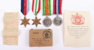 WW2 Campaign Medal Set of Four Attributed to Sister J L G Sharp Queen Alexandras Imperial Military N