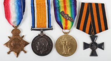 A Rare Imperial Russian Order of St George Medal Group of Four Awarded to RNAS Armoured Cars For Gal
