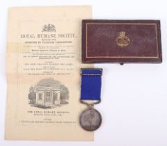 An Interesting Royal Humane Society Medal in Silver Awarded to John Dodd Who Was Also Awarded a Firs