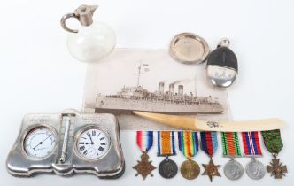 An Interesting Great War and Second World War Medal Group of Seven Awarded to an Officer Present on