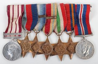 An Interesting Group of Seven Medals to a Qualified Royal Navy Diver Who Having Served Through the S