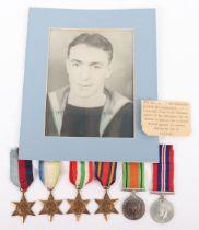 WW2 British Royal Navy Medal Group of Six