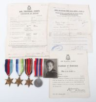 WW2 Campaign Medal Group of Four Attributed to a Former Member of No. 56 (Borough Of Woolwich) Squad