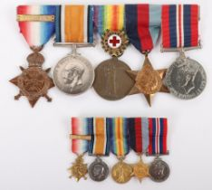 A Scarce Great War and second World War Medal Group of Five to a Member of the Civil Hospital Reserv