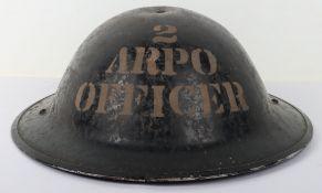 Scarce WW2 British Home Front ARP Steel Helmet