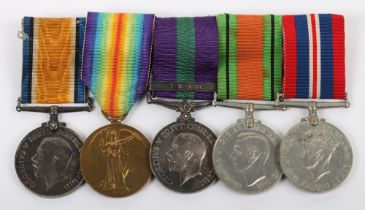 Great War & Iraq Campaign Medal Group of Five 6th County of London Regiment and Royal Army Pay Corps