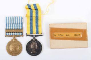 * Canadian Korean War Medal Pair