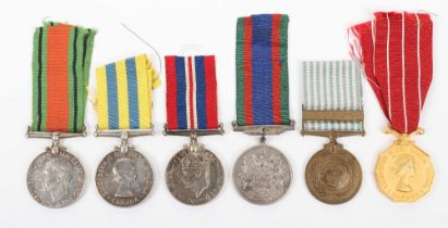 * A Group of Six Medals to a Canadian Serviceman Who Saw Service in Both the Second World War and in
